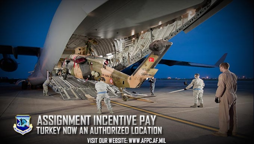 assignment incentive pay Assignment incentive pay if the assignment incentive pay is based on the location (3) assignment and special duty pays are not to be continuous in nature (ie, not a career-type skill or proficiency pay) and should be for a specified period of time.