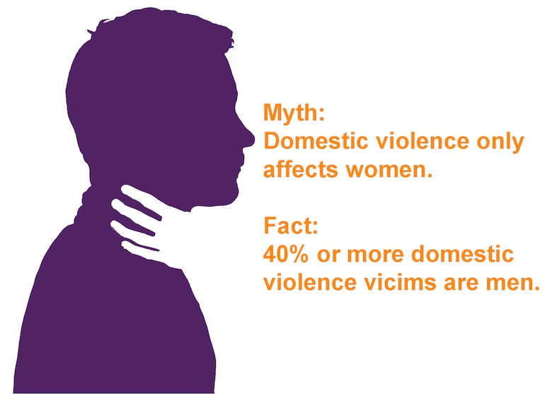 October is domestic violence awareness month. Nearly half of domestic violence occurrences are against males, yet most don't report the abuse. Those that do seek help are often met with disbelief, are mocked, or accused as attackers themselves.  