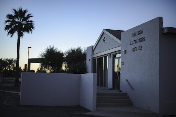 Davis-Monthan Air Force Base's Retiree Activities Office is located at 3500 S. Craycroft Rd., east of the base chapel, and is open Monday through Friday from 9 a.m. to 2 p.m. The RAO was established by the Secretary of the Air Force to serve military retirees, spouses, widows and widowers, and to support, advance and unify retired and active duty military families. (U.S. Air Force photo Airman 1st Class Mya M. Crosby)