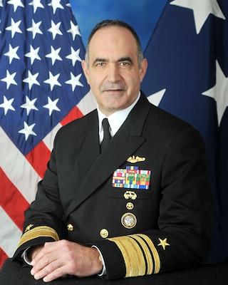 "Vice Admiral Charles A. ""Chas"" Richard Biography Photo"