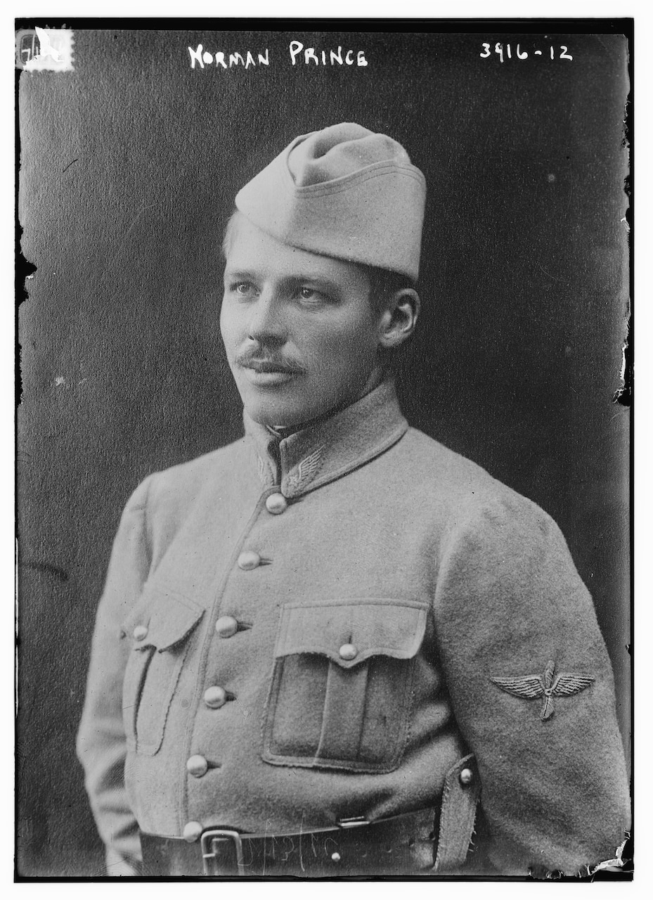 Norman Prince was a founder of the Lafayette Escadrille, a group of American pilots who were part of the French air force during World War I. Library of Congress photo