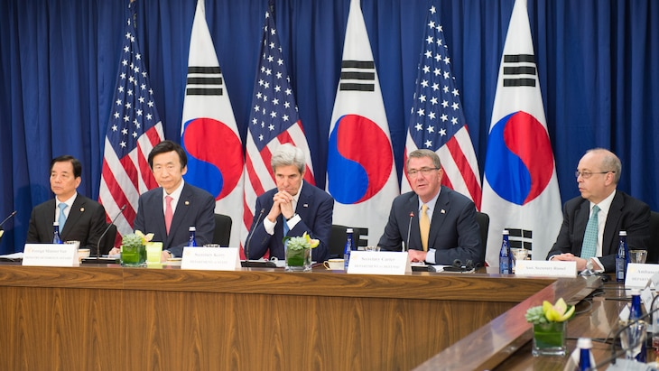 Defense Secretary Ash Carter and Secretary of State John Kerry met with their South Korean counterparts to examine the full scope of U.S.-South Korean issues, with a particular eye on the North.