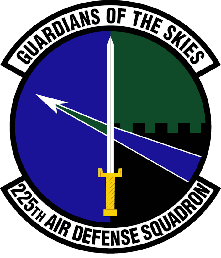 The official 225th Air Defense Squadron shield.