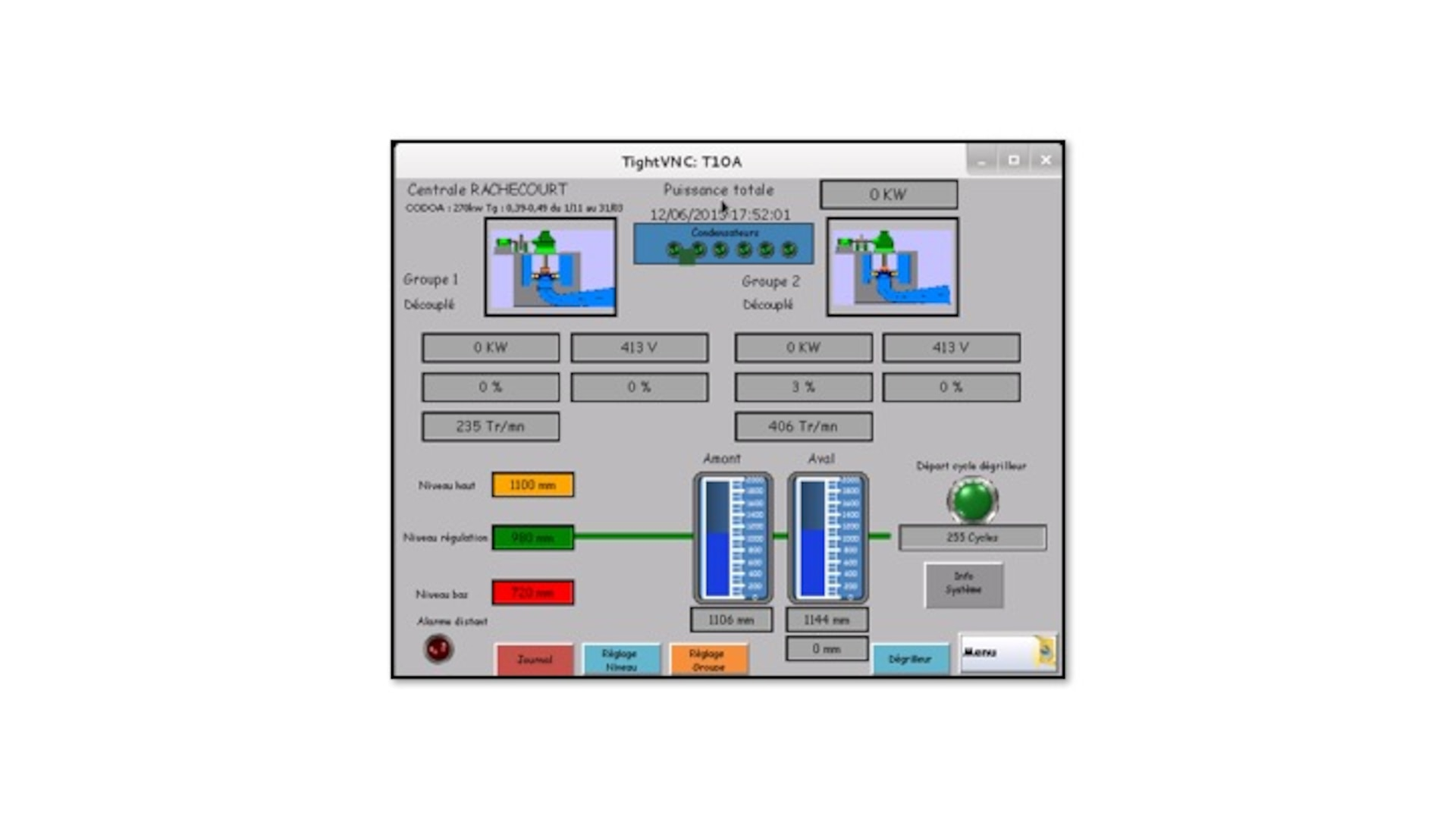 """In his article """"SCADA Systems Offered for Sale in the  Underground Economy,"""" Aharoni included one example in which a seller provided a screenshot that appears to be a French hydroelectric generator as evidence that the seller had access to it."""