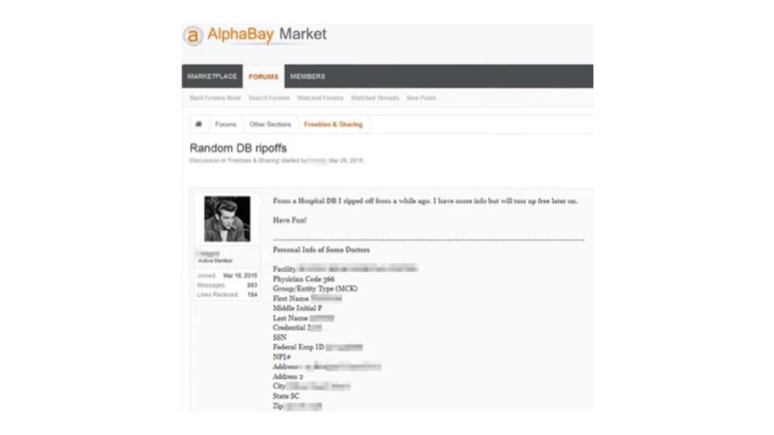 Figure 13.9 Medical Data for Sale