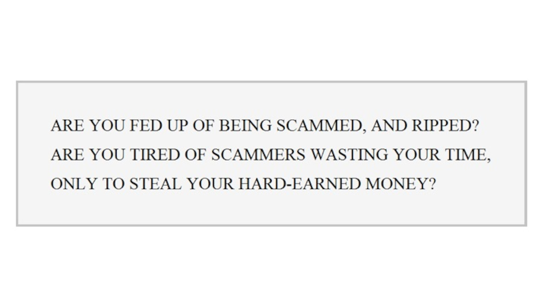 There will always be suspicions about the validity of the products for sale, as many individuals have paid for stolen financial data, only to not receive what they expected. One seller refers to this dishonor among thieves within their opening pitch: