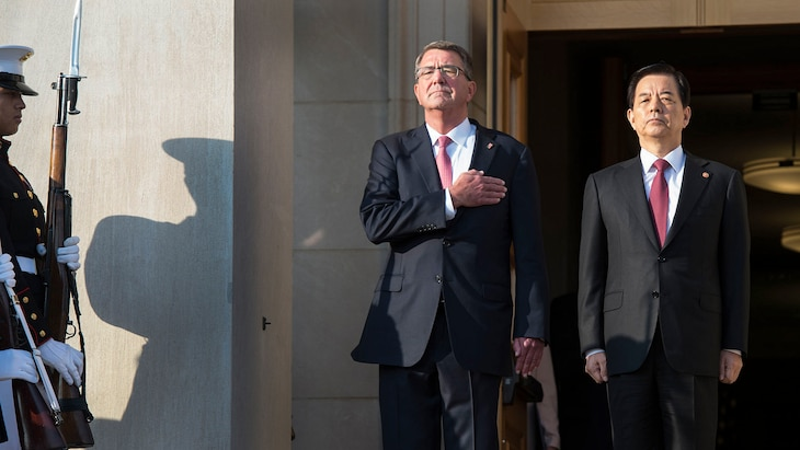 The U.S. remains concerned about North Korean provocations and is committed to defending its regional allies, Defense Secretary Ash Carter said in a news conference with his South Korean counterpart.