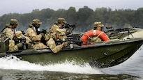 <strong>Photo of the Day: Oct. 21, 2016</strong><br/><br />Paratroopers provide security from a high-speed patrol boat while advancing toward their next objective during Livorno Shock, an exercise in Piacenza, Italy, Oct. 17, 2016. Army photo by Massimo Bovo<br/><br /><a href=&quot;http://www.defense.gov/Media/Photo-Gallery?igcategory=Photo%20of%20the%20Day&quot;> Click here to see more Photos of the Day. </a>