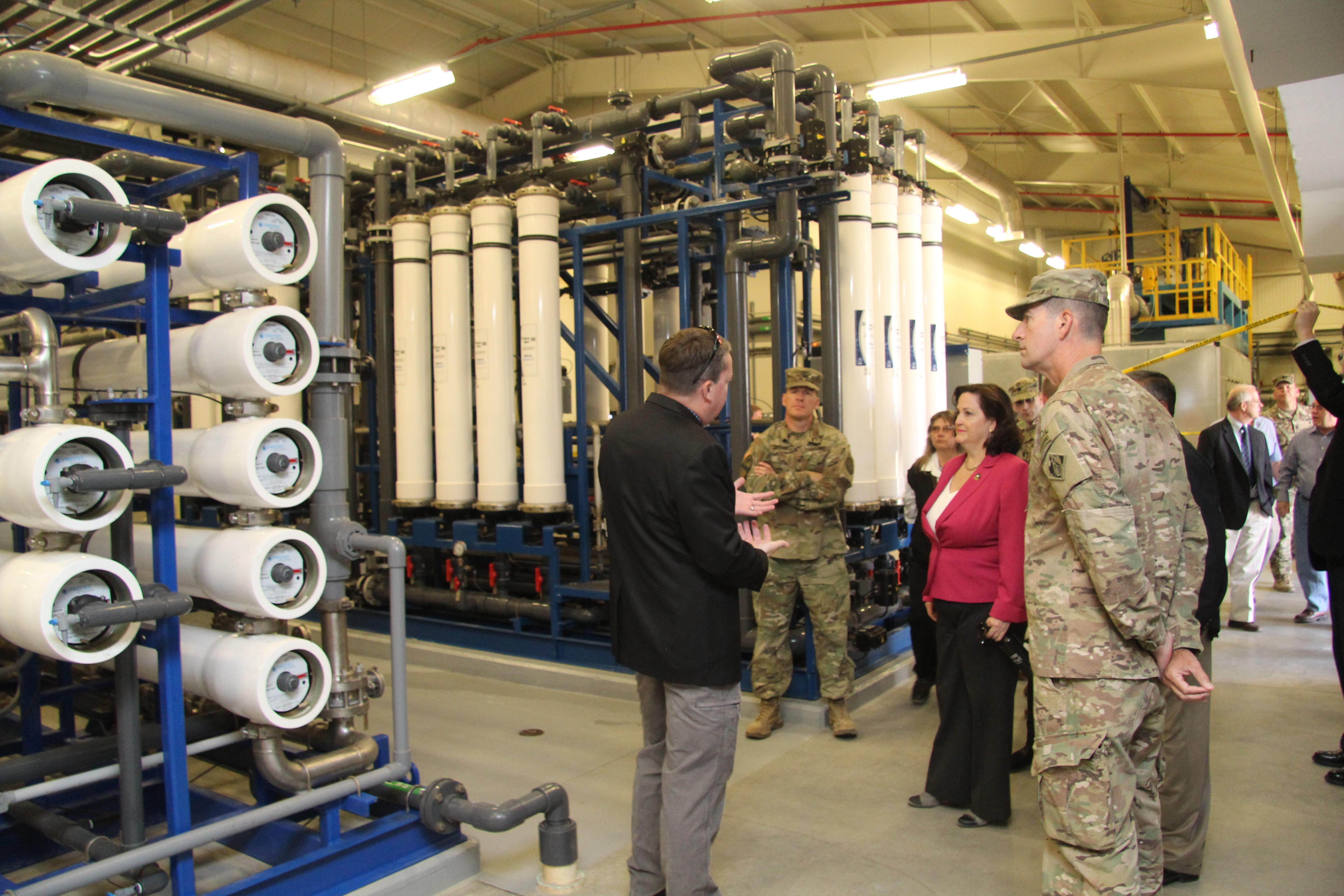 Corps pletes Fort Irwin water treatment plant Los Angeles