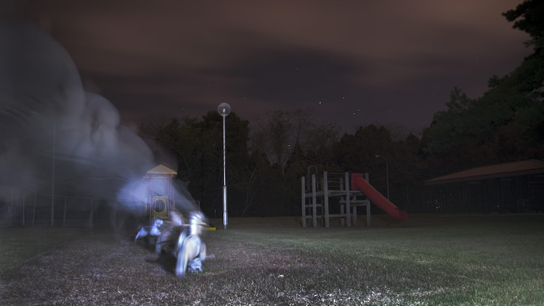 This week's ghost hunting adventures at Misawa Air Base, Japan, features Leftwich Park with stories of ghostly children who were killed during a 1942 airstrike. It is said that Misawa Air Base is one of the most haunted places in the city. (U.S. Air Force photo illustration by Senior Airman Brittany A. Chase)