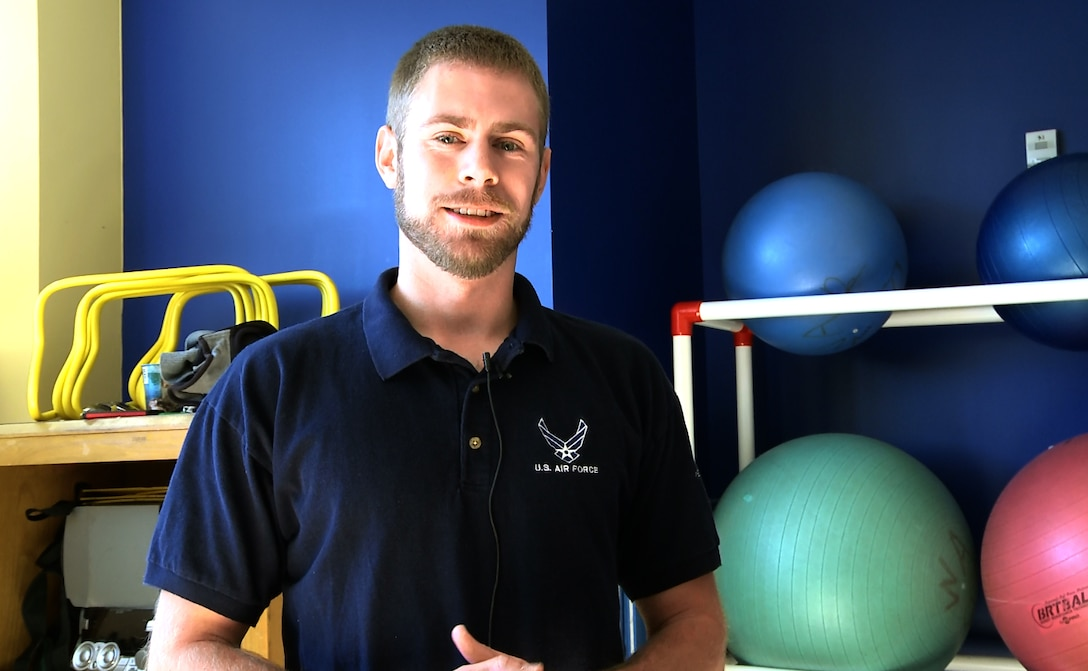 Jimmy Puchalski, Westover wing exercise physiologist, wants to help you! Jimmy is available by drop-in or appointment. (Air Force photo/ TSgt. Amelia Leonard