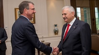 Defense Secretary Ash Carter met with Turkish leaders including  Prime Minister Binali Yıldırım, in Ankara, Turkey, and reaffirmed his support for the long term strategic alliance between the two NATO allies.