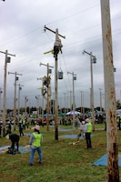 The Delta Company 249th Engineer Battalion, a versatile power generation battalion assigned to the U.S. Army Corps of Engineers, provides commercial-level power to military units and federal relief organizations during full-spectrum operations such as floods and hurricanes. The Lineman Rodeo is a chance for Delta Company to hone technical craft skills, meet, and learn from others in the linework trade.