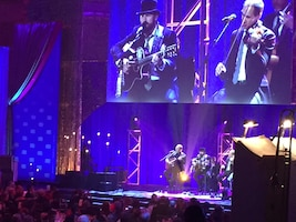 The Zac Brown Band performs at the USO's 75th Anniversary Gala at the Daughters of the American Revolution Constitution Hall in Washington, D.C., Oct, 20, 2016. DoD photo by Jim Garamone