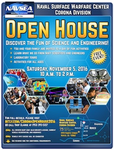 NSWC Corona Open House 2016 Flyer