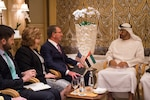 Defense Secretary Ash Carter meets with Crown Prince Mohammed Bin Zayed Al Nahyan of the United Arab Emirates in Abu Dhabi, United Arab Emirates, Oct. 24, 2016. DoD photo by Air Force Tech. Sgt. Brigitte N. Brantley