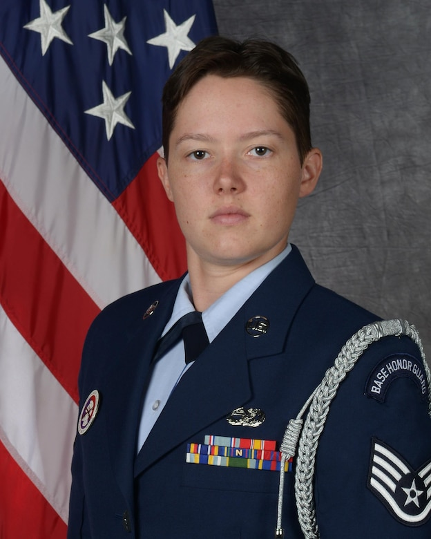 Staff Sgt. Nikole Warn, 5th Logistics Readiness Squadron vehicle maintenance journeyman, was recently selected for the U.S. Air Force Honor Guard. (Courtesy photo)