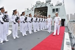 Chief of Naval Operations Admiral John Richardson visits Chinese People's Liberation Army Navy Submarine Academy, North Sea Fleet Headquarters, and a PLAN frigate and submarine in Qingdao, China, to improve mutual understanding and encourage professional interaction between U.S. and Chinese navies, July 20, 2016 (U.S. Navy/Nathan Laird)