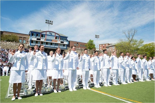 The Coast Guard Academy graduates approximately 200 officers every year.  These new officers will be key to implementing the Human Capital Strategy's 10-year course, ensuring a thriving and effective workforce prepared for the complexities of tomorrow.