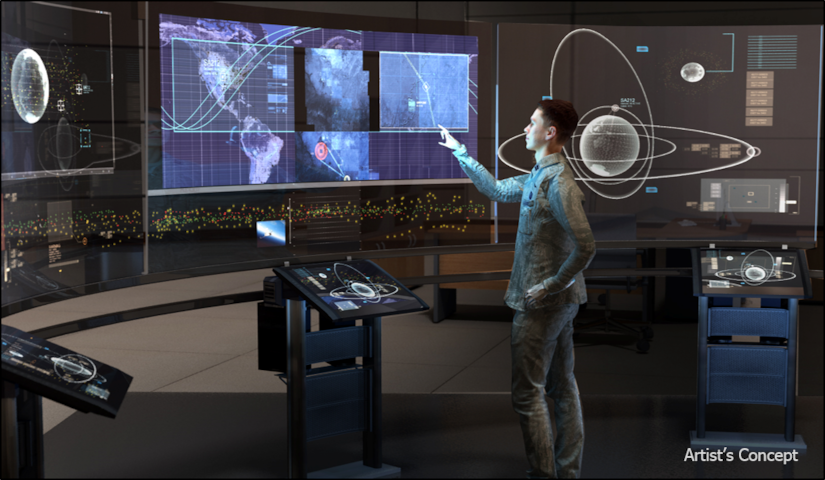 DARPA's Hallmark program will provide improved capabilities to rapidly plan, assess and execute the full spectrum of U.S. military operations in space. DoD graphic