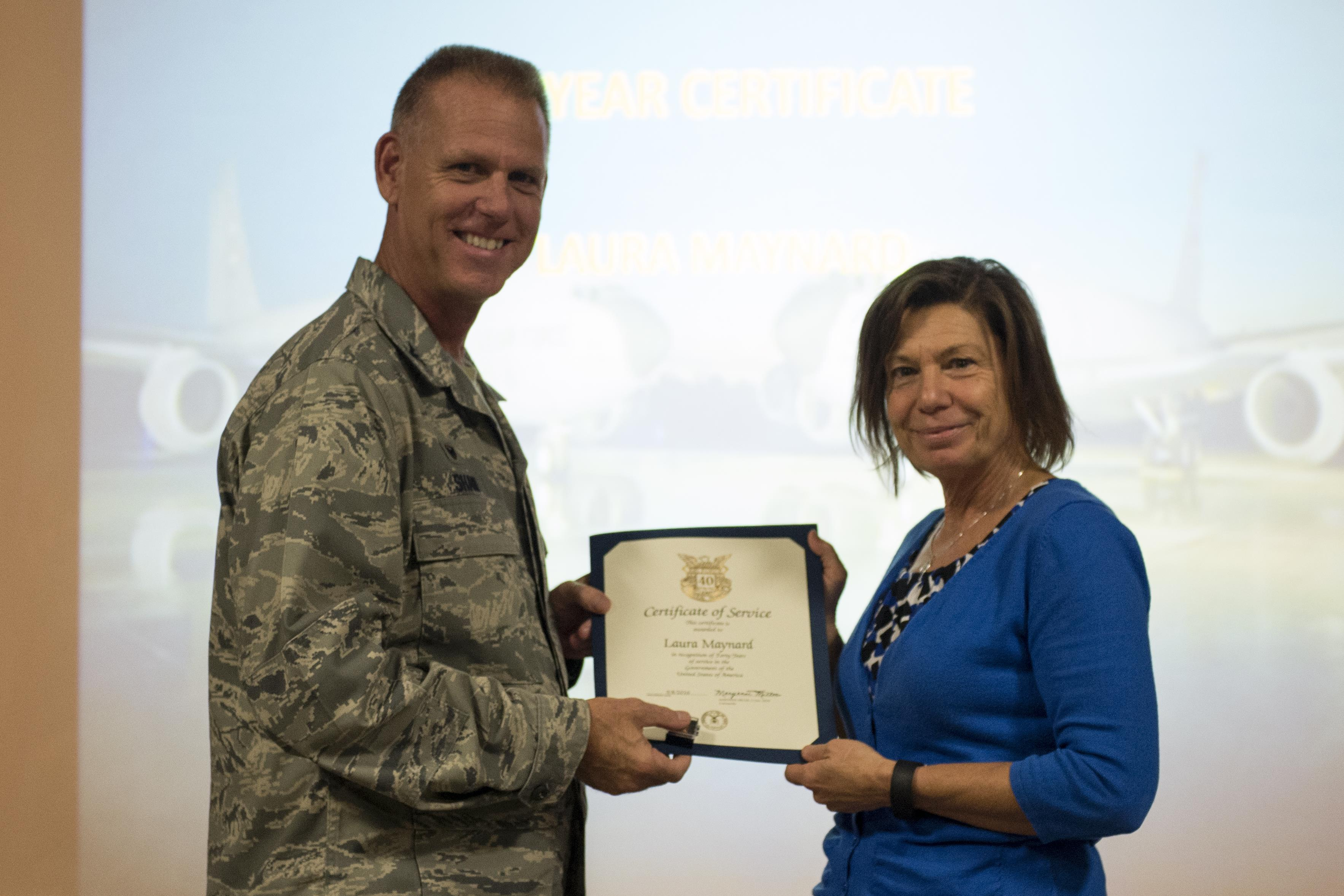 Civilian Employees Honored For Years Of Service