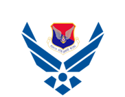 Air Force wings with 628th Air Base Wing logo.