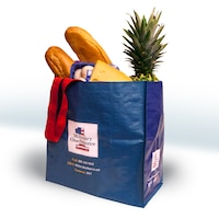 Customers of Defense Department commissaries will receive a free reusable shopping bag beginning Oct. 28, 2016. DoD graphic