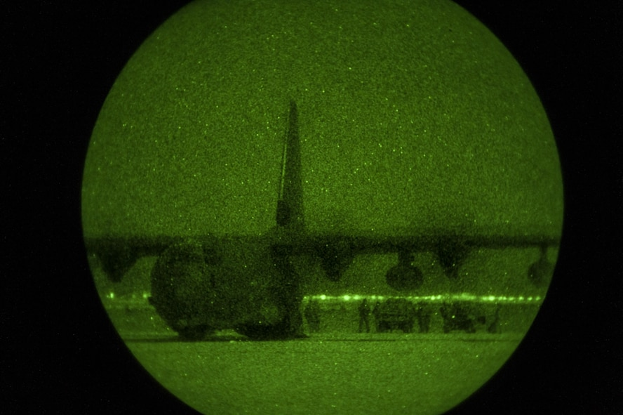 Special Tactics Airmen assigned to the 26th Special Tactics Squadron download equipment from a MC-130J aircraft during a Full Mission Profile exercise at White Sands Missile Range, N.M., Oct. 12, 2016.  The FMP was utilized to integrate special operations forces and foster tactical maturity through deliberate planning and execution of a force projection package and enable Special Tactics Airmen pre-deployment evaluation. (U.S. Air Force photo by Tech. Sgt. Manuel J. Martinez)