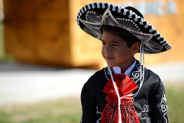 Mariano Faz, Ciudad Acuña youth, observes the 56th annual Abrazo ceremony at the Convention Center in Del Rio, Texas, Oct. 21, 2016. The Abrazo, which means to embrace in Spanish, is an annual tradition that symbolizes the friendship between Mexico and the U.S. where both cultures are shared with one another. (U.S. Air Force photo/Senior Airman Ariel D. Partlow)