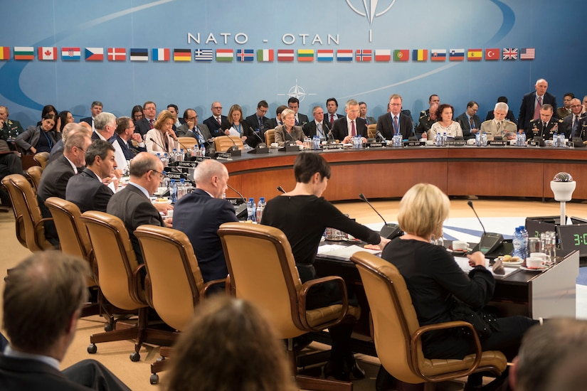 "Defense Secretary Ash Carter attends a North Atlantic Council meeting at NATO headquarters in Brussels, Oct. 26, 2016. DoD photo by Air Force Tech. Sgt. Brigitte N. Brantley<br /><br /><a target=""_blank"" href=""https://www.flickr.com/photos/secdef"">
