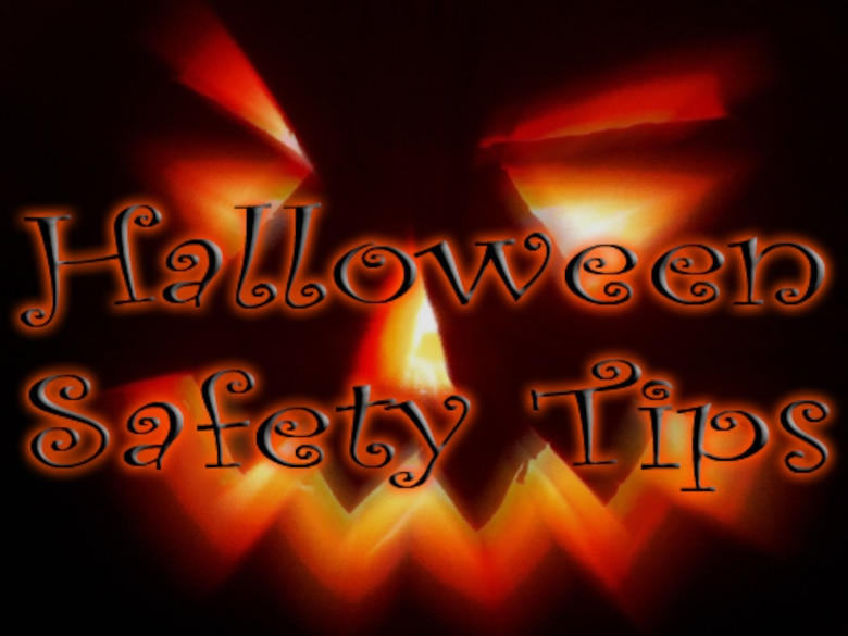 With Halloween quickly approaching, Team V members are reminded to stay vigilant and keep safety a priority. Trick-or-treat hours for base housing will be from 6 p.m. to 8 p.m. on Oct. 31. Those who will be driving in the base housing area are reminded to be aware of the extra traffic during trick-or-treat hours, as well as an increase in pedestrian traffic. (Graphic by Senior Airman Christopher Boitz)
