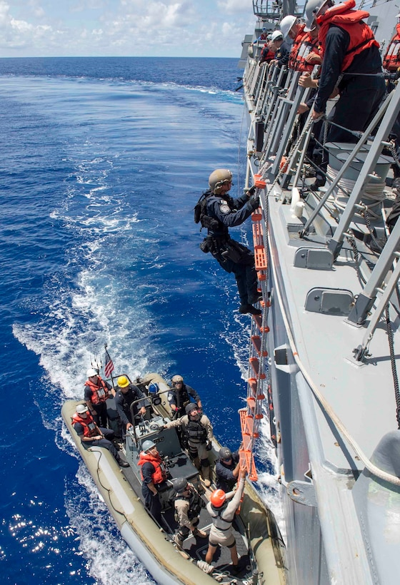 U.S. Coast Guardsmen from Coast Guard Pacific Tactical Law Enforcement Team