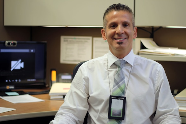 Steven Pipia, Defense Contract Management Agency Garden City, New York, quality assurance specialist, who has a hearing disability, said observing National Disability Employment Awareness Month in October is an opportunity to reflect on the challenges those with disabilities are able to overcome. (DCMA photo by Justin Zaun)