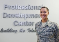 Tech. Sgt. Tamara Acfalle, 45th Force Support Squadron Airman Leadership School instructor, was selected to commission through the Senior Leadership Enlisted Commissioning Program Oct. 27, 2016, at Patrick Air Force Base, Fla. The program is available to enlisted Airmen who are U.S. citizens between the age of 18 and 34 and follows eligibility factors outlined in AFI 36-2005 paragraph 2.1, but is further qualified into two distinct phases designed for Airmen at different points in their education. (U.S. Air Force photo/Matthew Jurgens)