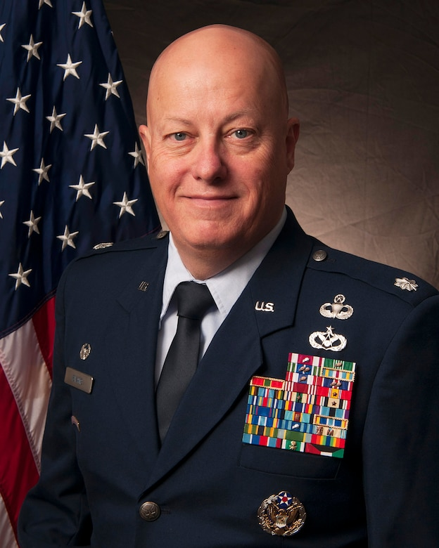 Official photo of Lt. Col. Jack R. Evans, 168th Mission Support Group commander.  (U.S. Air National Guard photo by Senior Master Sgt. Paul Mann/Released)