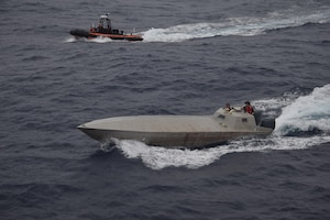 The Coast Guard interacts across the spectrum of military and civilian agencies that comprise the Intelligence Community, which contributes to the Coast Guard's national security mission. (U.S. Coast Guard Photo by Petty Officer 3rd Class Andrew Barresi)