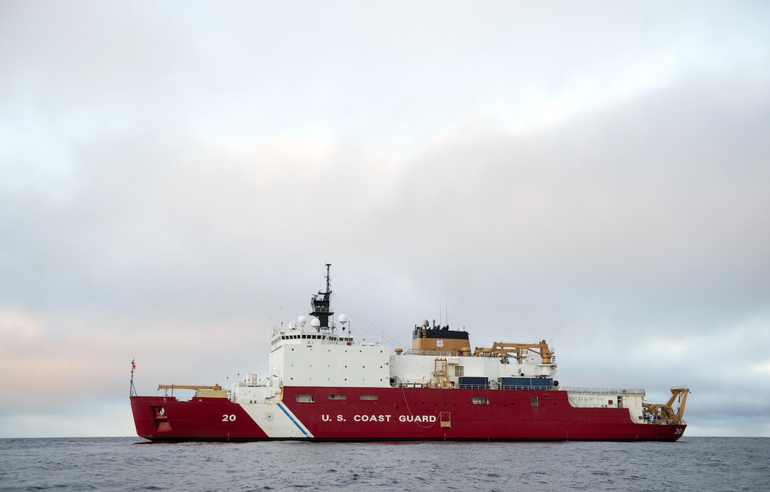 Coast Guard Cutter Healy, a 420-foot icebreaker homeported in Seattle, conducts operations in the southern Arctic. The Coast Guard is responsible for ensuring safe, secure, and environmentally responsible maritime activity in U.S. Arctic waters.  (U.S. Coast Guard photo by Petty Officer 2nd Class Cory J. Menden)