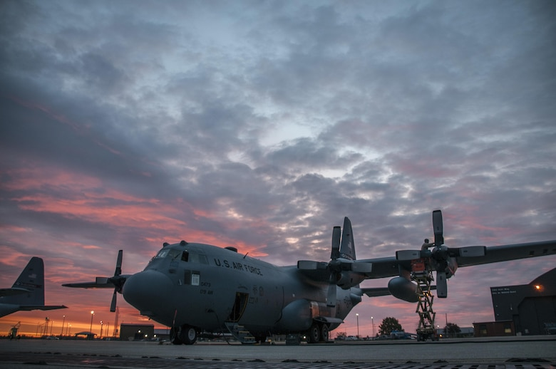 Members of the 179th Maintenance Group work on a C-130H Hercules in Mansfield, Ohio, as part of normal training operations Oct. 26, 2016. The 179th Airlift Wing is always on a mission to be the first choice to respond to state and federal missions with a trusted team of Airmen. (U.S. Air National Guard photo/Tech. Sgt. Joe Harwood)