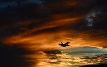 An F-16 Fighting Falcon flies over Aviano Air Base, Italy, Oct. 20, 2016. The 555th and 510th Fighter Squadrons deter aggression, defend U.S. and NATO interests, and develop Aviano AB through superior combat air power, support and training. (U.S. Air Force photo/Staff Sgt. Krystal Ardrey)
