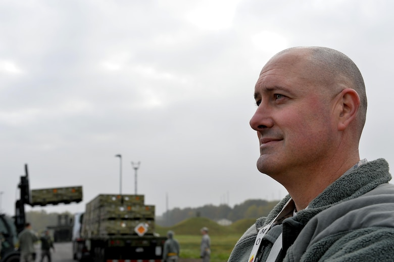 Master Sgt. James Tschoepe, 86th Munitions Squadron NCO in charge of tactical aircrew rapid response packages, watches his Airmen perform scenarios during a local exercise at Ramstein Air Base, Germany, Oct. 26, 2016. The 86th MUNS is the hub for all munitions movements for United States Air Forces in Europe and Africa. (U.S. Air Force photo by Airman 1st Class Joshua Magbanua)