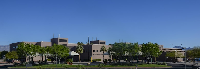 The Mike O'Callaghan Federal Medical Center provides medical treatment for Airmen and families at Nellis Air Force Base, April 1, 2016. The MOFMC, partnering with Veteran Affairs, will become the first Critical Care Unit in the Air Force to install a new virtual care team known as the Tele-ICU early next year. (U.S. Air Force photo by Airman 1st Class Kevin Tanenbaum/Released)