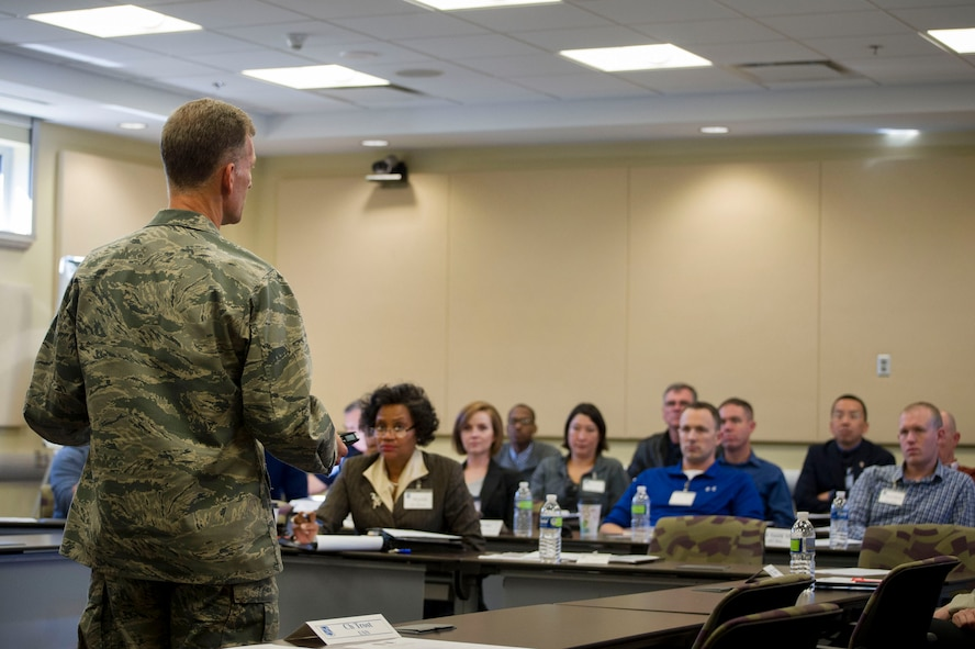 U.S. Air Force Chief of Chaplains Maj. Gen. Dondi Costin  speaks to chaplains and chaplain assistants during the AFDW Chaplain Corp Conference on Joint Base Andrews, Md., Oct. 25, 2016. (U.S. Air Force photo by Senior Master Sgt. Adrian Cadiz)(Released)