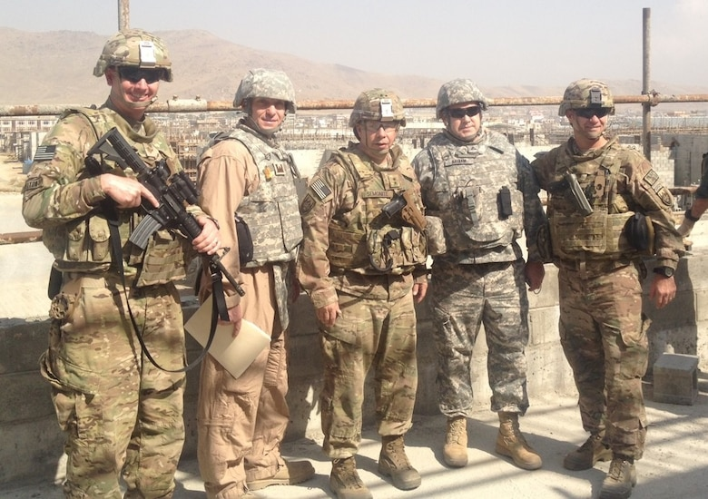 The U.S. Army Corps of Engineers, Buffalo District Project Management Chief Tom LaVean is deploying to Afghanistan on October 30, 2016. This is Mr. LaVean's third civilian deployment since starting with the Corps of Engineers in 2009. In photo, Tom LaVean (second from left) stands to the left of Lieutenant General Semonite, now Chief of Engineers, in a prior deployment.