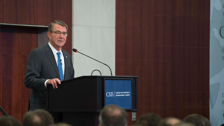Defense Secretary Ash Carter announced new recommendations to help build the Force of the Future during a speech in Washington, Oct. 28, 2016.