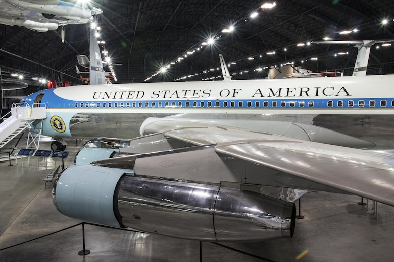 DAYTON, Ohio -- The Boeing VC-137C SAM 26000 on display in the Presidential Gallery at the National Museum of the United States Air Force. (U.S. Air Force photo by Ken LaRock)