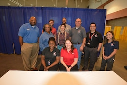 "A group of technical experts from the U. S. Army Corps of Engineers Nashville District prepared students for future STEM careers during the ""My Future, My Way"" Career Exploration Fair at two exhibits sponsored by the Metro Nashville Public schools Academies of Nashville and the Nashville Area Chamber of Commerce at Music City Convention Center Oct. 27, 2016."
