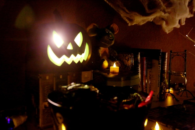 A jack o lantern idly sits amongst a Marine s Halloween themed decorations  duringBoo Rah  MWHS 2 s Barracks are Haunted    2nd Marine Aircraft Wing  . Marine Corps Themed Room. Home Design Ideas