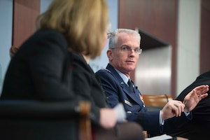 Vice Chairman of the Joint Chiefs of Staff Air Force Gen. Paul J. Selva speaks at the Center for Strategic and International Studies about the Pentagon's third offset strategy in Washington, D.C., Oct. 28, 2016. DoD photo by Navy Petty Officer 1st Class Tim D. Godbee