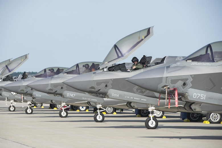 Pilots with the 33rd Fighter Wing prepare to take off during exercise Northern Lightning at Volk Field, Wis., Aug. 26, 2016. Northern Lightning is a joint total force exercise that gives the Air National Guard, Air Force and Navy a chance to practice offensive counter air, suppression and destruction of enemy air defense and close air support. (U.S. Air Force photo/Senior Airman Stormy Archer)