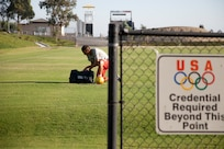 U.S. Army Reserve 2nd Lt. David Garza prepares to practice at the U.S. Olympic Training Center in Chula Vista, Calif. on Aug. 23, 2016 in preparation for the 2016 Summer Paralympic Games. The U.S. Paralympic National Men's Soccer team will square off against Holland during their first match in Rio, Brazil on Sept. 8, 2016. Garza is a member of the 314 Military Intelligence Battalion in San Diego, Calif.